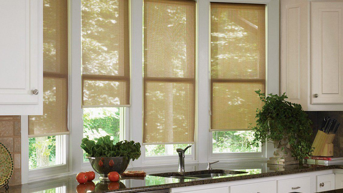 Roller Shades Block the Heat and Glare While Adding a Decorative Touch