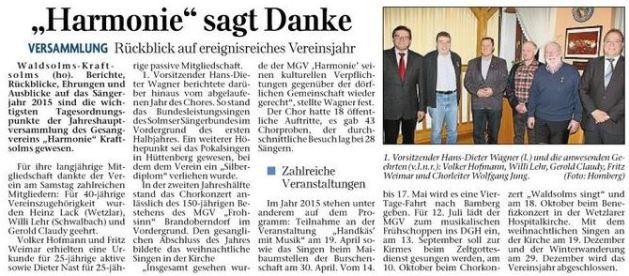 05 03 2015 harmonie sagt danke - Zeitungsberichte