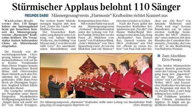 stc3bcrmischer applaus belohnt 110 sc3a4nger stuermischer applaus belohnt 110 saenger - Zeitungsberichte
