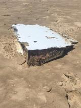 A photo of possible aircraft debris found off the coast of South Africa on December 22 by Cricketer Albie Morkel, as posted on Facebook. Source: Albie Morkel