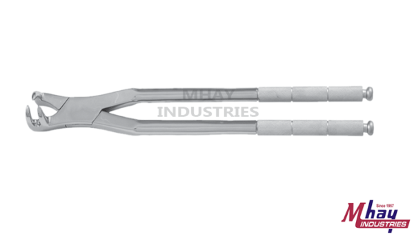 Equine Dental Forceps Three Prong Off Side