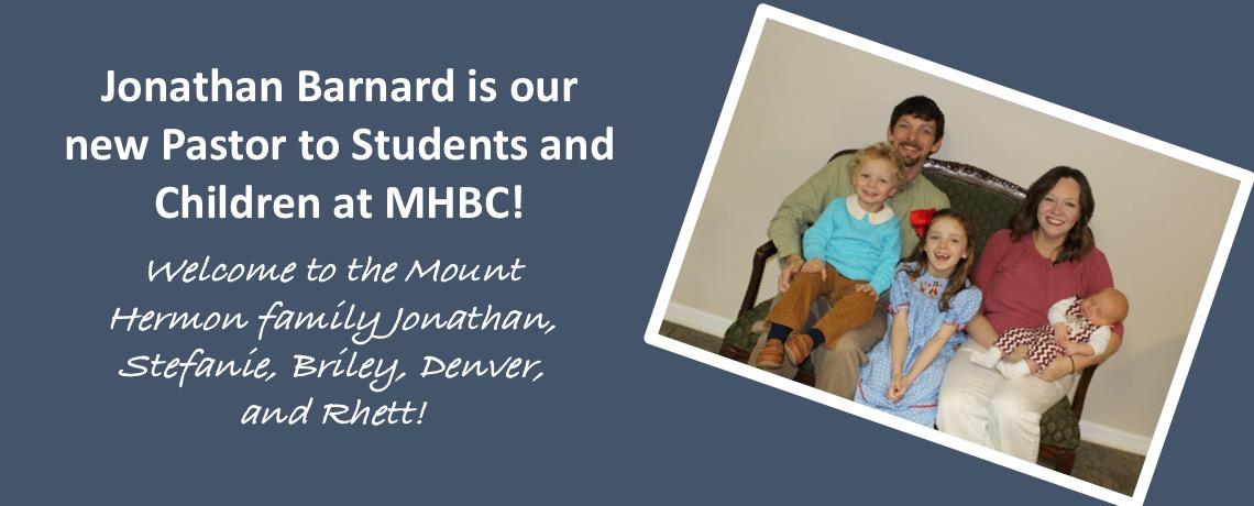 Welcome Jonathan Barnard