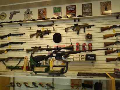 Firepower at the local gun shop.