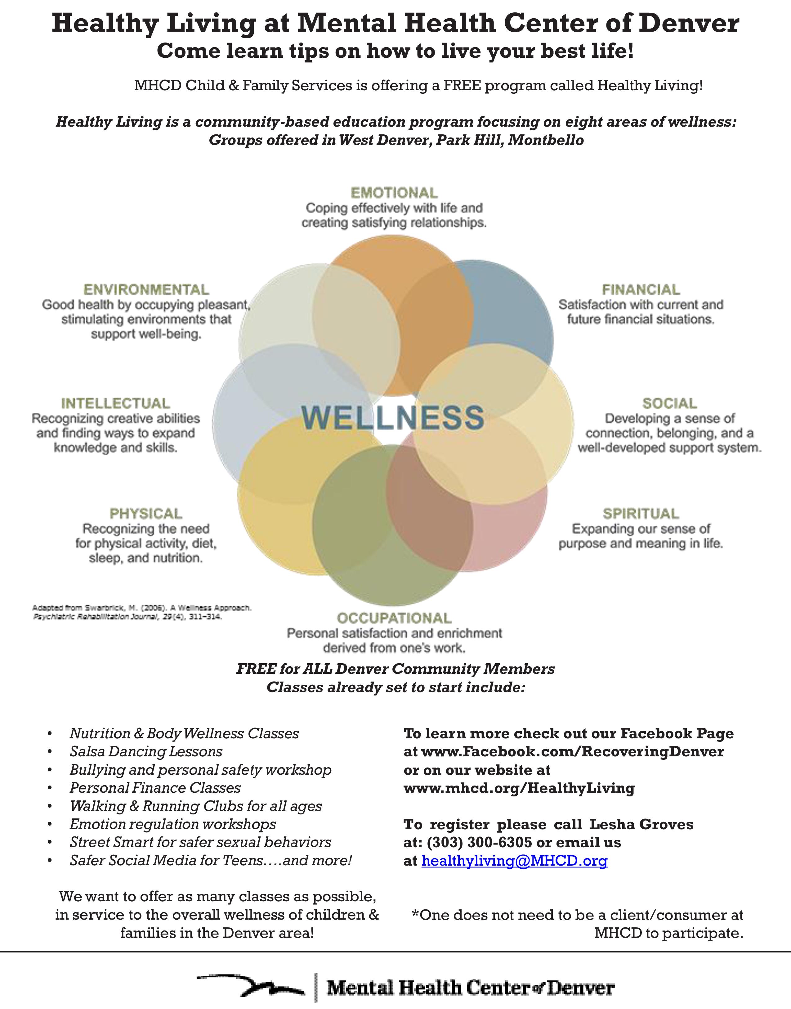 8 Dimension Wellness Wheel Flyer