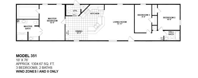 2 Bedroom Single Wide Mobile Home Floor Plans Best 2017