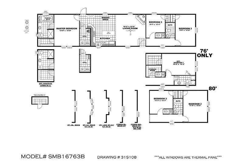 CMH Decision Maker 16763B 3/2 Mobile Home For Sale