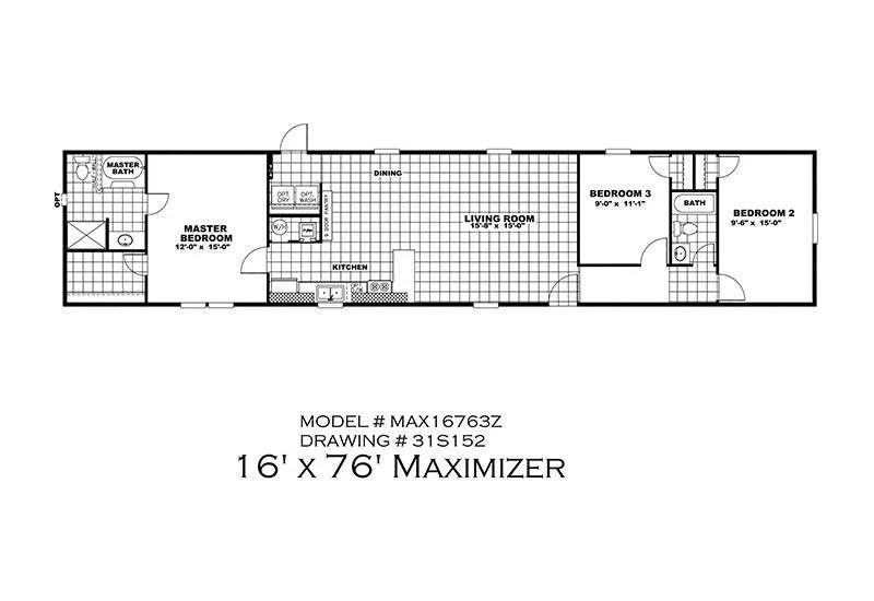 CMH Maximizer 16763Z 3 Bedroom Mobile Home For Sale