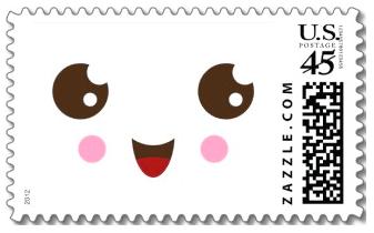 cute kawaii face postage