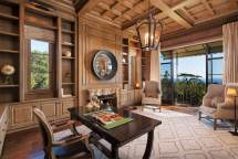 Tuscan Style Home Office Design