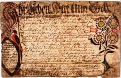 Vorschrift attributed to Christopher Dock, ca. 1765