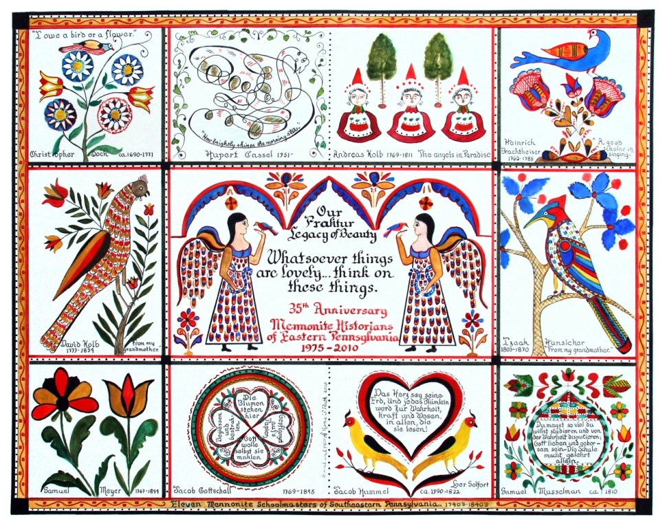 Commemorative fraktur by Roma Ruth, 2010
