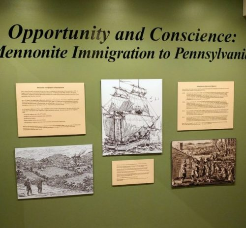 exhibit, Mennonite Heritage Center, Harleysville