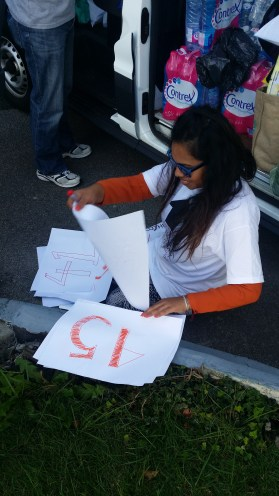 Dahlia sorts out signs to make distribution easier