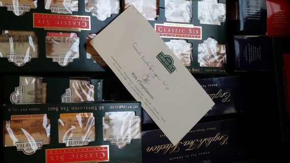 A box of Ahmad Teas await!