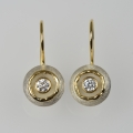 silver and 18ct gold with diamond