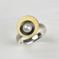 silver, part oxidised and 18ct with freshwater pearl (£375)