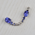 18ct white with tanzanite and diamonds (sold)