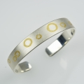 silver and fused fine gold bangle (£480 sold)