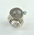 silver and 18ct white with rutilated quartz and topaz (£595)