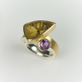 18ct gold and silver with star rutilated quartz and spinel (£1040)