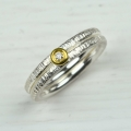 silver and finegold with diamond (£220)
