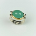 22ct gold and silver with chrome chalcedony (£680)
