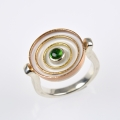 silver, 18ct red, rose, yellow gold with tourmaline (£595)