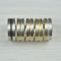 silver and 18ct red, yellow and white (£390)