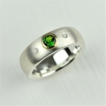 silver and 18ct with chrome diopside and diamonds (£390)