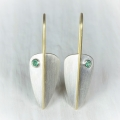silver and 18ct gold with emerald (£345 sold)