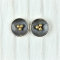 oxidised silver and 22ct studs (£165)