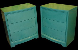 Blue Leather Glazed Dressers