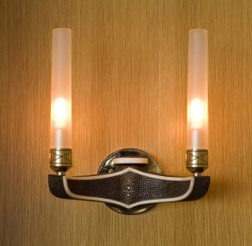 Chocolate Shagreen Sconce