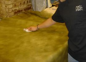 Hand Dyed Leather Treatment_jpg