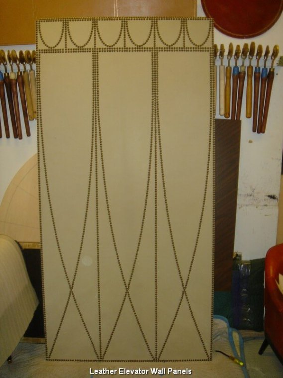 Leather Elevator Wall Panels