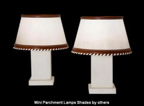 Mini Parchment Lamps Shades by others