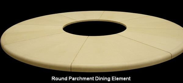 Round Parchment Dining Element