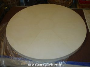 Round Sheep Parchment top
