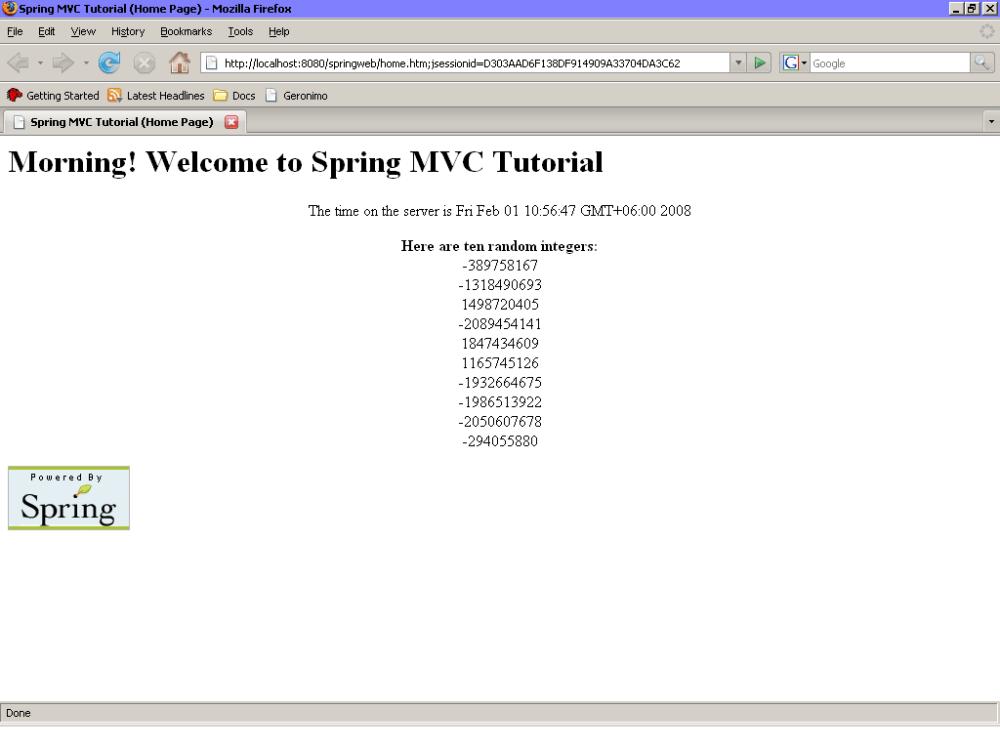 Spring MVC Tutorial (1/4)