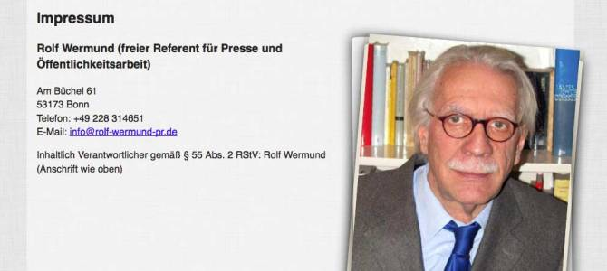 Web-Visitenkarte für Rolf Wermund
