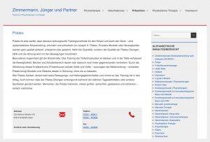 """Website """"Physiotherapie-erfstadt.de"""""""