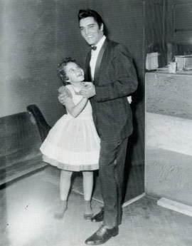 A very young Brenda Lee with Elvis Presley