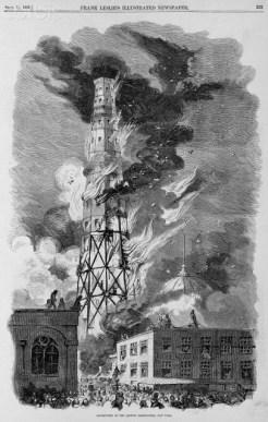 Latting Observatory burning 1856