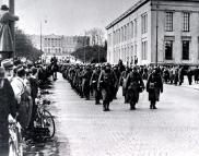 German soldiers marching through Oslo on 9 April 1940.