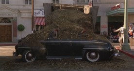 Biff's Ford Super De Luxe covered in manure.