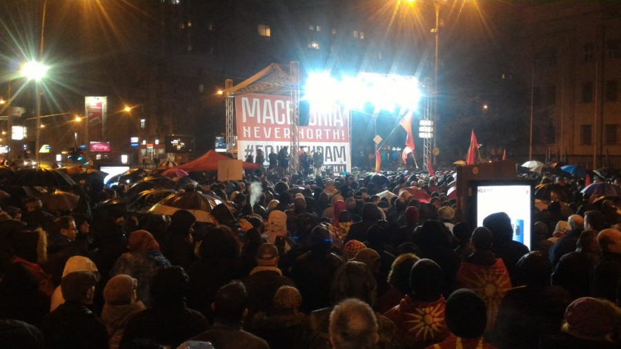 Rally in defence of Macedonias name