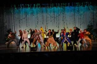 Mr. Madison contestants perform the Haka dance at the begining of the show. at the Mr. Madison Contest. Photo courtesy: John Tourcotte