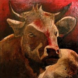 Aubade rouge (122 x122 cm)