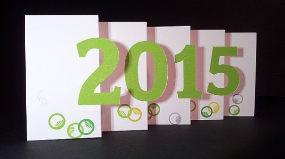 Carte de vœux 2015 kirigami, motifs art déco