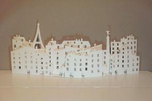 Valise d'artiste, premiers essais, page Paris